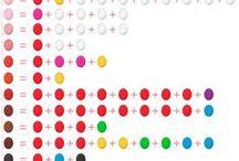 Farben/-Mischung Fondsanteile u. Blütenpaste