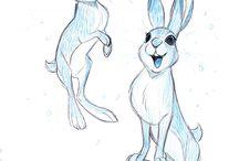 Disney style drawing  (animals)