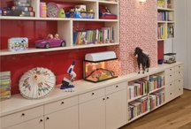 decor- playroom / Let's just pretend that a kids' playroom would ever look this nice
