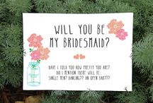 Bridesmaid Invitation ♥ / Bridesmaid Invitation ♥
