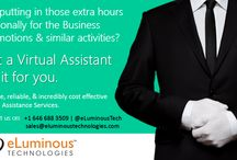 Virtual assistance service! / eLuminous technologies offers a great level of Virtual Assistant Services, Internet Marketing Assistance, Search Engine Optimization service, Database creation and management, bookkeeping service, Transcription service, and many other IT services that helps you to increase your business productivity.