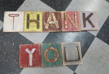 Re-purposed & Upcycled Letters / Unique letters and signs made from repurposed materials.