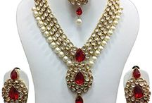 Bollywood Designer Kundan Pearls Wedding Party Jewellery Necklace Set