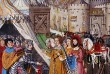 1480-1510 Transitional Gowns / Specific to England and France for roughly the years 1480-1510. This is a collection of images that show the gradual shift from the medieval silhouette to the so-called Tudor silhouette.