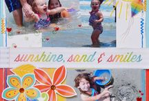 Summer scrap pages