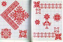 PUNTO DE CRUZ (Cenefas y Mosaicos) / Mosaicos inspirados en la geometría así como las mejores ideas sobre orillas para rematar las toallas, los paños de cocina o los cuadros de punto de cruz...un arte que nunca muere.