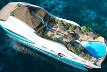 Floating luxury Yacht Island