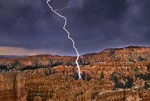 lightening and storm
