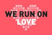 We run on love / Chez nous, la Saint Valentin c'est tous les jours ! Trop d'love à MOONDA.