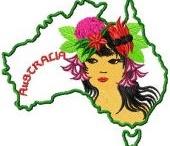 Australia in Heart Embroidery designs