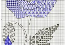 Blackwork ~ Stitches and patterns.
