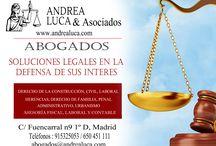 Abogados Madrid Andrea Luca & Asociados / ABOGADOS MADRID BUGETE DE ABOGADOS MADRID ANDREA LUCA & ASOCIADOS DERECHO DE LA CONSTRUCCIÓN DERECHO CIVIL DERECHO LABORAL DERECHO ADMINISTRATIVO DERECHO DE FAMILIA DERECHO PENAL URBANISMO ASESORÍA FISCAL Y CONTABLE