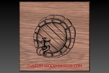 Design ideas for our wooden products / we can carve any of these design ideas on our products.  • Beer bottle opener • Beer Tote • Signs • Wine boxes