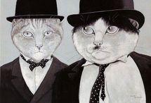 кошки рисунки