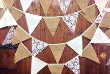 Wedding bunting / Decorative wedding bunting to make your day extra special.