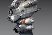 Vehicle / Flying Machines / Concept art and 3D renders of flying machines