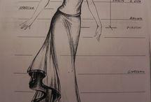 Disegni di moda. / Creazioni artistiche messe su carta.
