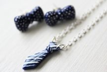 DIY Bow-Tie Jewelry Set Kit / Create beautiful jewelry from polymer clay with one of the best clay instructors, Helga of PuddingFishCakes. Make adorable bow-tie earrings and a matching tie necklace, all under 60 minutes. Get your kit today: https://takeandmake.co/crafts/bow-tie-jewelry-set
