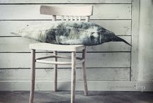 Zoya Bolshakova home decor / F&P wool felt Textiles, interior designer accessories, papier-mache objects.