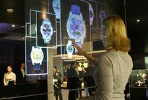 Design: Installation / Touch screen, connected spaces, installation