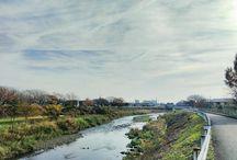 地域の町内会合同で一斉大掃除。ほんとの本当に冬が来た感じです。 Today's landscape #landscape #winterview #river #suburban #イマソラ #冬支度 #田舎の風景写真