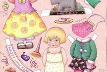 paper dolls Ann Estelle, Mary Engelbreit