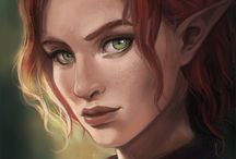 elves and others / portraits of elves and some people