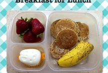 """lunch box love / These are lunches I've actually made. They are easy, healthy, and kid-tested on REAL children (one of whom I can only describe as  a """"carb-iterian"""".) Also included are sayings and websites for lunch box recipes and notes."""