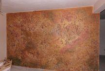 Wall metal patina
