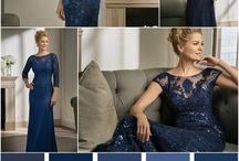 Moms in Captivating Blue Tones / Jasmine Bridal MOB Dresses in striking shades of blue.