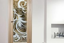 Etched glass panel ideas