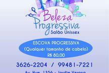 Promoção Salão Beleza Progressiva / Tel.:(31) 3626-2204  Av. Hum, 1356 - Jardim Verona - Ribeirão das Neves Minas Gerais - Brasil
