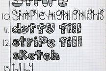 As letras e seus formatos / by Maria Ramos