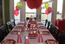 Strawberry shortcake party theme  / Ideas for a strawberry shortcake party theme