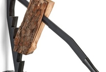 Log splitters.