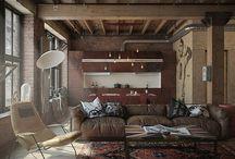 """A. industrial / Wnętrza typowo industrialne, wysokie, surowe, z niezasłoniętą konstrukcją a nie tylko dekoracjami """"w stylu industrialnym""""."""