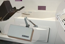 Handicap bathtub / All Handicap Bathtubs available with air jets, water jets or dual jets, Chroma therapy and aromatherapy, an ozone sanitation system and Roman bath tub faucet package. Walk in tubs for seniors also include a choice of in-swing, out-swing or sliding door options. #handicapbathtub #walkintubs #handicaptub  / by UniversalDesigan Specialists