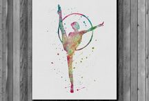 Rhythmic Gymnastics Painting