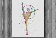 Rhythmic Gymnastics Painting