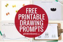 Kinder Drawing prompts