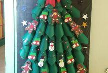 Porta decorada de Natal