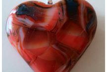 Mijn zelf gemaakte glas sieraden.:) / Hotpot