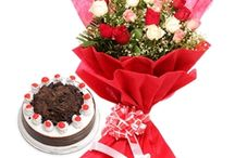 BUY ONLINE FLOWER WITH CAKE