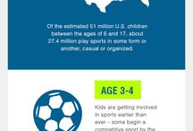 Sports Infographics / If there is one thing sports are known for is it's statistics. However, all sports are not the same. Discover some interesting stats about youth sports like hockey, lacrosse, basketball, soccer, and so many more.