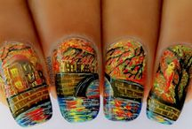 StyleThoseNails-Landscape/Paitings/Artwork inspired Nailart / Follow my board for more. All designs Freehand Painted by me inspired my nature, Landscape, Paintings and other artwork. Click on the picture to find more on blog.