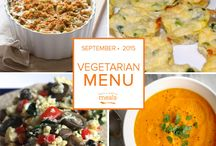 Vegetarian Freezer Menu September 2015 / by Once A Month Meals