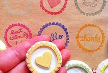 sellos hechos a mano