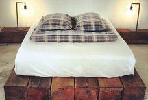 Slaapkamer / Slaapkamer inspiratie waarin oud historisch hout is verwerkt.