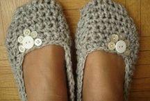 chaussons au crochet