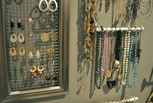 DIY makeup & jewellery storage
